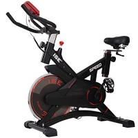 ISE Indoor Spinning Bike Cardio con Volano da 13 kg,Display LCD,Misurazione Pulsazioni,Bici Fitness Salvaspazio con Ruote di Trasporto e Porta Tablet,Silenzio Fit,Peso utente Fino a 120 kg, SY-7005-1