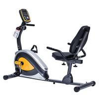 TechFit R400 Cyclette Orizzontale, Recumbent Ergometro Ideale per Allenamento di Recupero, con Sella Regolabile, Sensori a Impulsi e Monitor LCD