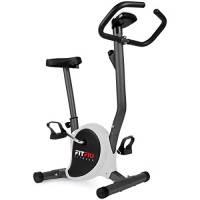 Fitfiu Fitness BEST-100 Gris, Bicicletta Statica Regolabile Compatta con Schermo LCD Unisex - Adulto, Nero/Bianco, M
