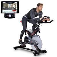 Sportstech SX400 Cyclette Professionale Ergometro Controllo per Applicazione Smartphone + Google Street View, Peso di inerzia 22 kg, Supporto per Braccia, Cardiofrequenzimetro, silenziosa, 150 kg Max