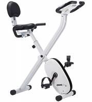 SportPlus Cyclette da Casa Pieghevole, 24 Livelli di Resistenza, Sensori Pulsazioni Integrati nel Manubrio, S-Bike Pieghevole, Sicurezza Testata