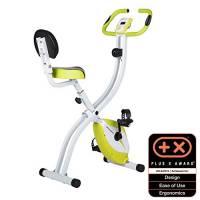 Ultrasport Trainer da Casa F-Bike 200B, con Sensori delle Pulsazioni con Schienale Ripiegabile Unisex-Adulto, Verde, Taglia Unica
