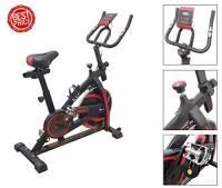 Fusaro Moto Bici da Spinning Fly Spin 6 con volano da 6 kg | Bicicletta per Allenamento Dimagrante, Forza, Resistenza | Spinbike con Cardio per l'home Fitness