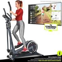 Sportstech Cyclette Ellittica | Marca di qualità Tedesca | Eventi Video & App Multiutente & Display | Massa volano 24KG | 22 Programmi & Modalitá HRC | CX625 Supporto Tablet Incluso