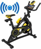 Nero Sports Bluetooth Cyclette Aerobica da Spinning Allenamento Indoor Fitness Cardio Spin Bike