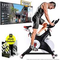 Sportstech Cyclette Professionale SX500 - Marchio di qualità Tedesco -Eventi Video & Multiplayer App, volano da 25KG, Bike Studio -Sistema a Scatto SPD -Fino a 150KG, eBook Gratis