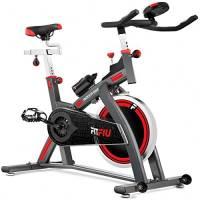 Fitfiu Fitness BESP-24, Bici da Indoor, Ruota D'inerzia di 24 kg Unisex – Adulto, Nero, M
