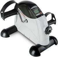 Ultrasport Mini Bike Cyclette per Allenamento di Gambe e Braccia, diversi livelli, per Giovani e Anziani in Casa o in Ufficio con Computer per l'allenamento integrato, Nero, 43.5 x 19 x 34 cm